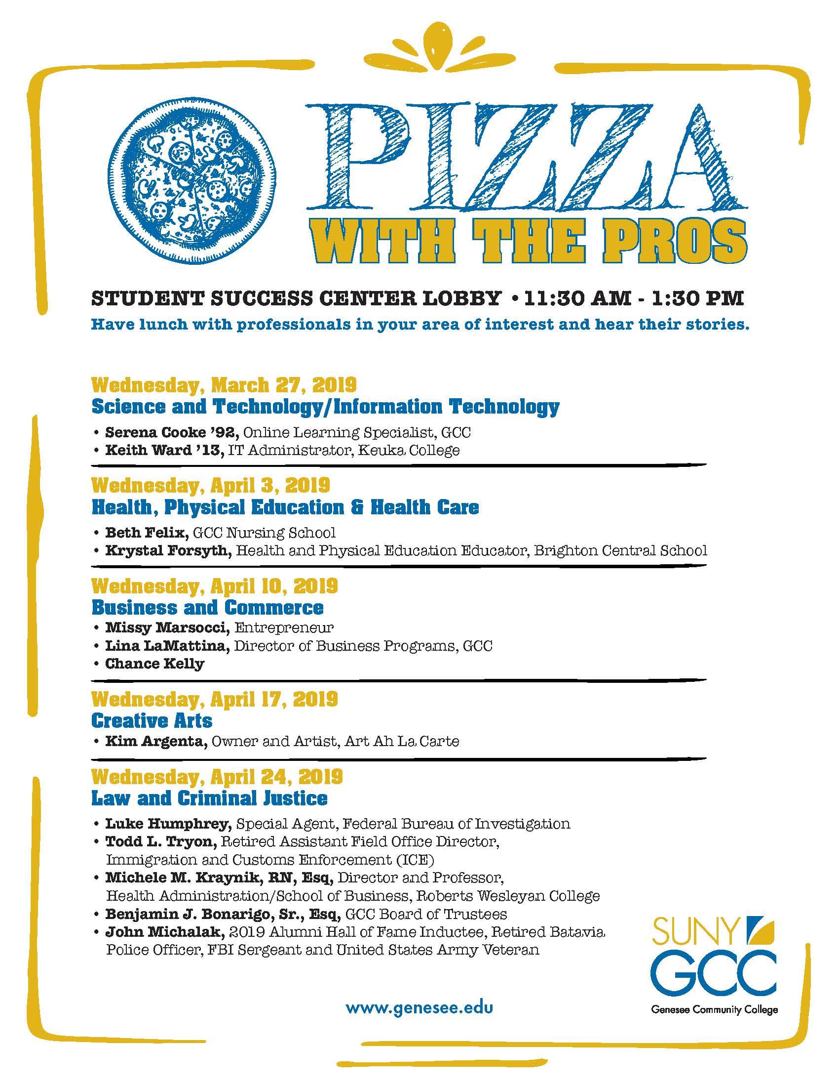 Student Success Center events flyer