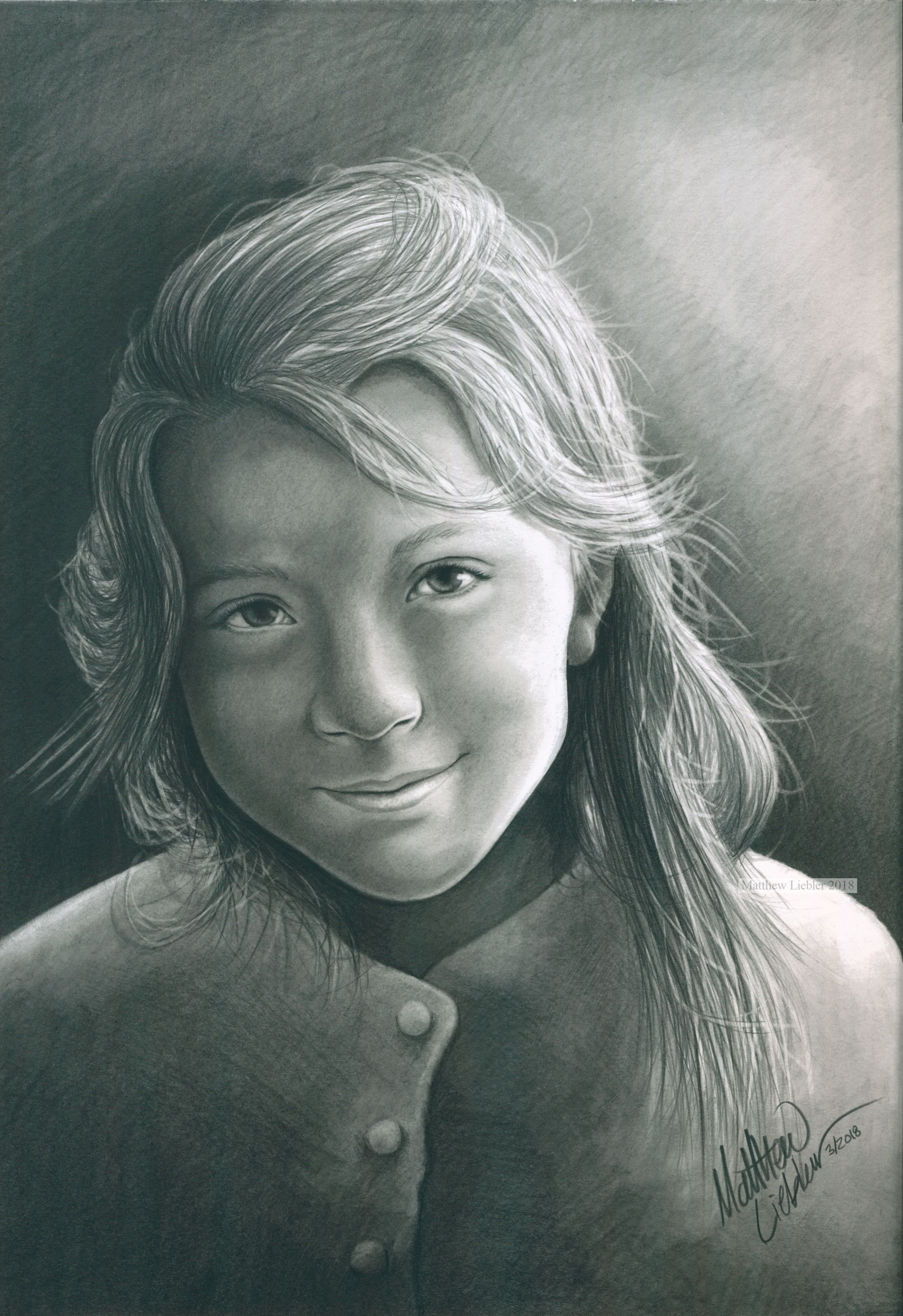 Drawing of a young child.