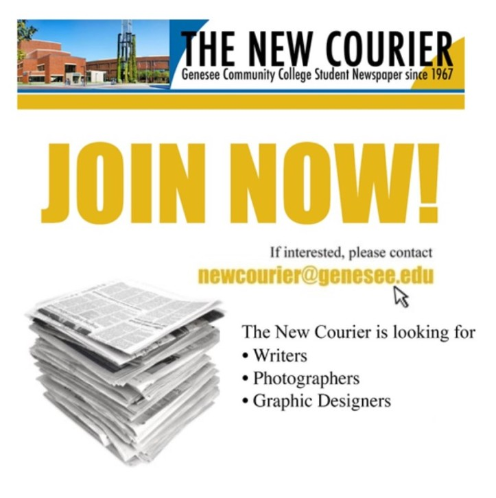 ad for the New Courier Join Now!